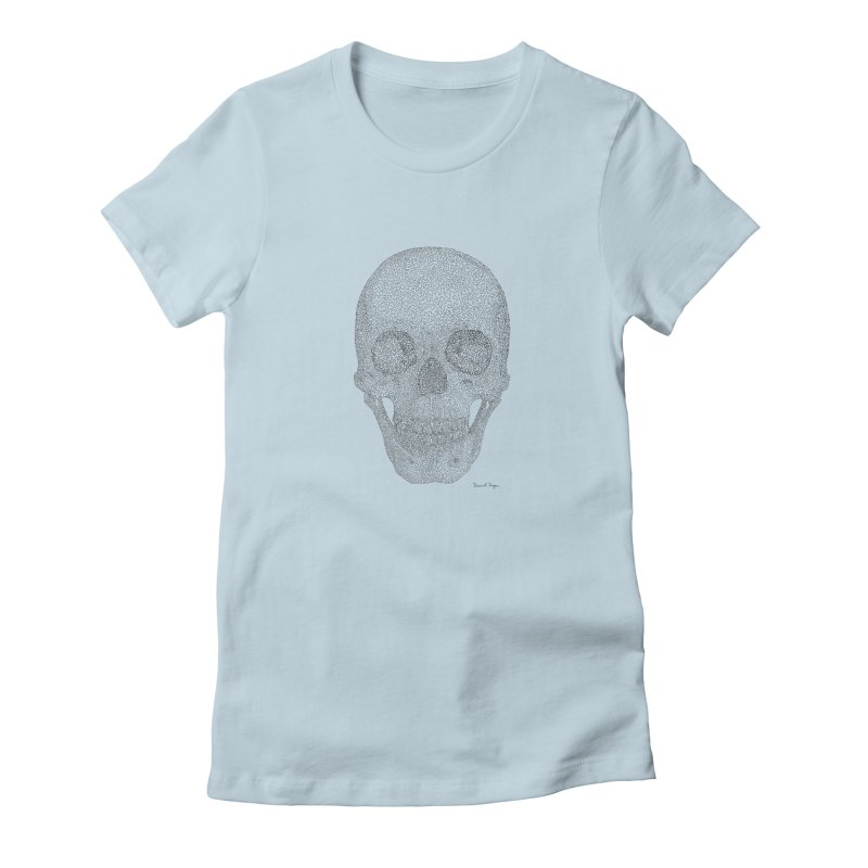 Skull (Black) Women's T-Shirt by Daniel Dugan's Artist Shop