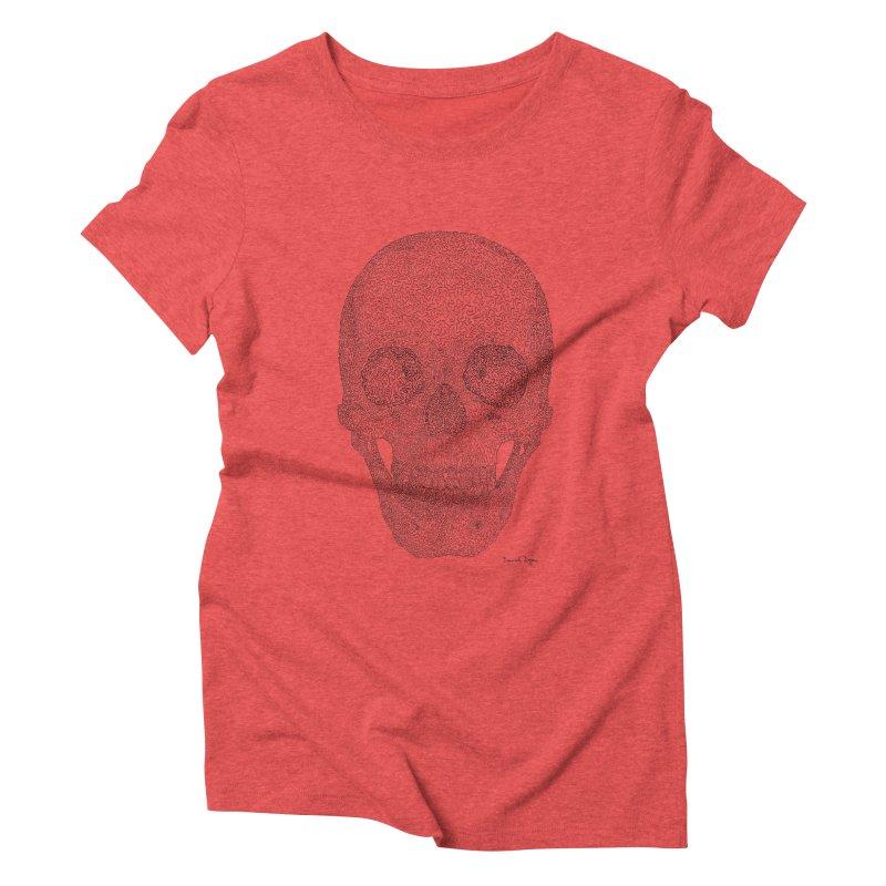 Skull (Black) Women's Triblend T-Shirt by Daniel Dugan's Artist Shop