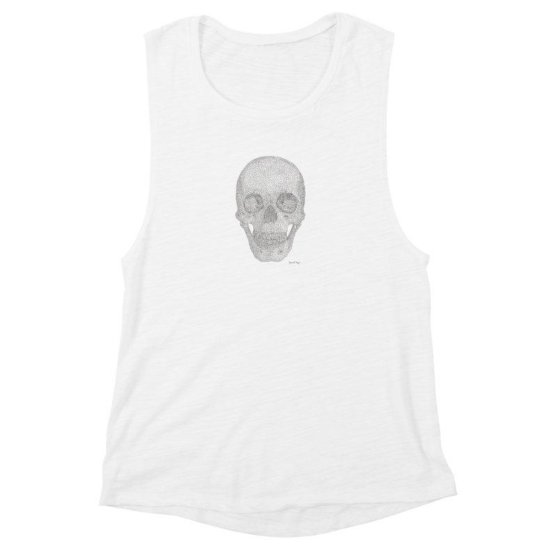 Skull (Black) Women's Tank by Daniel Dugan's Artist Shop