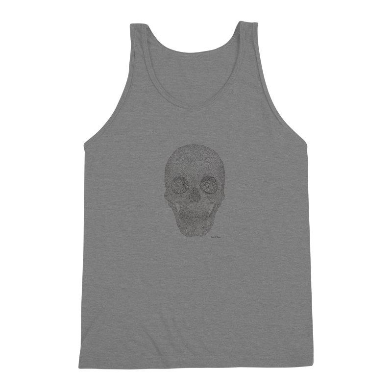 Skull (Black) Men's Tank by Daniel Dugan's Artist Shop