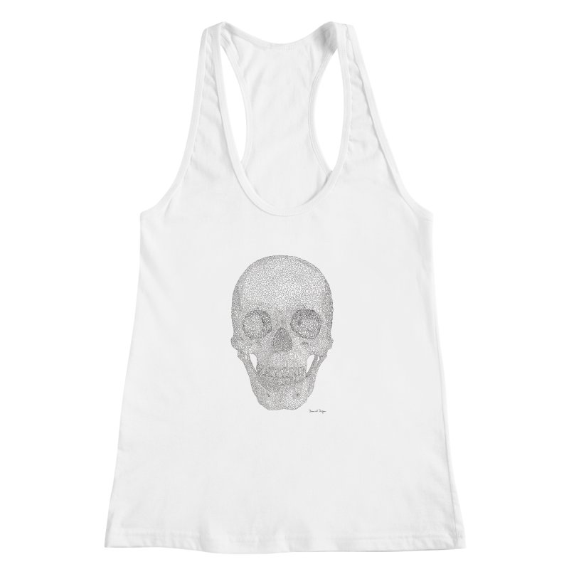 Skull (Black) Women's Racerback Tank by Daniel Dugan's Artist Shop