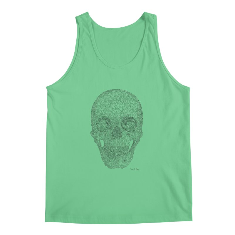 Skull (Black) Men's Regular Tank by Daniel Dugan's Artist Shop