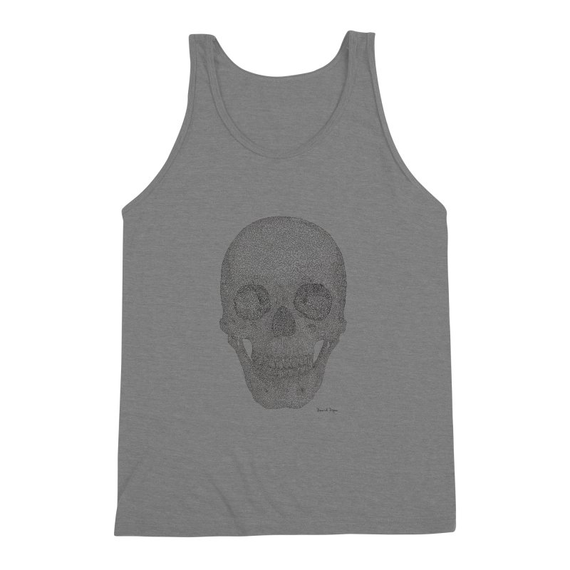Skull (Black) Men's Triblend Tank by Daniel Dugan's Artist Shop