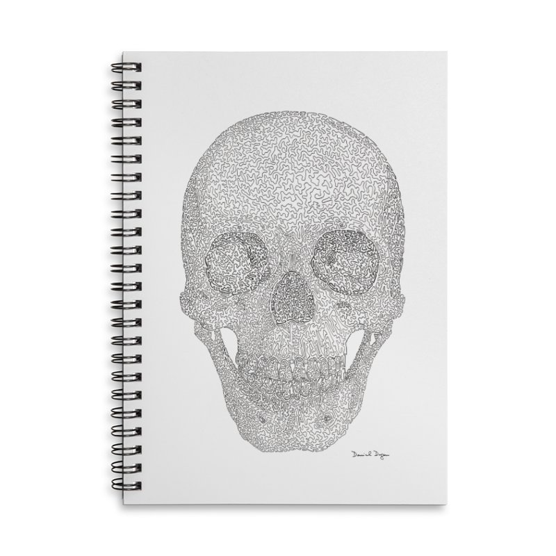 Skull (Black) Accessories Notebook by Daniel Dugan's Artist Shop