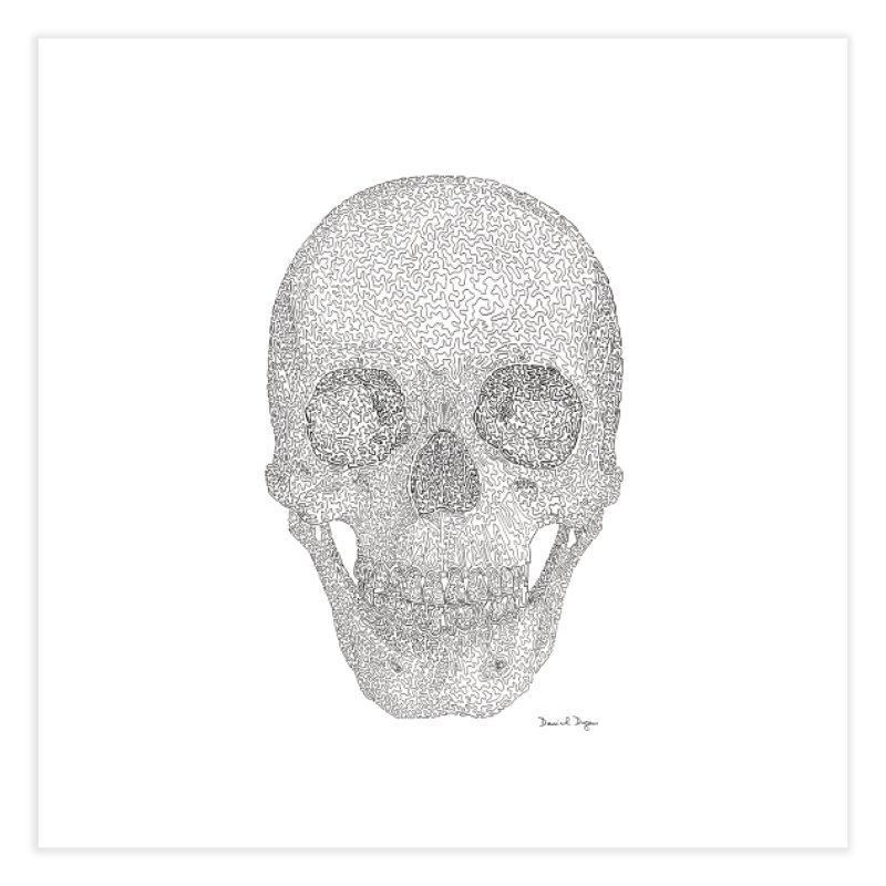 Skull (Black) Home Fine Art Print by Daniel Dugan's Artist Shop