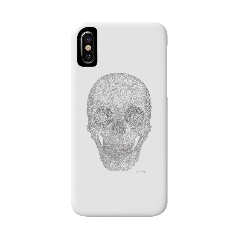 Skull (Black) Accessories Phone Case by Daniel Dugan's Artist Shop