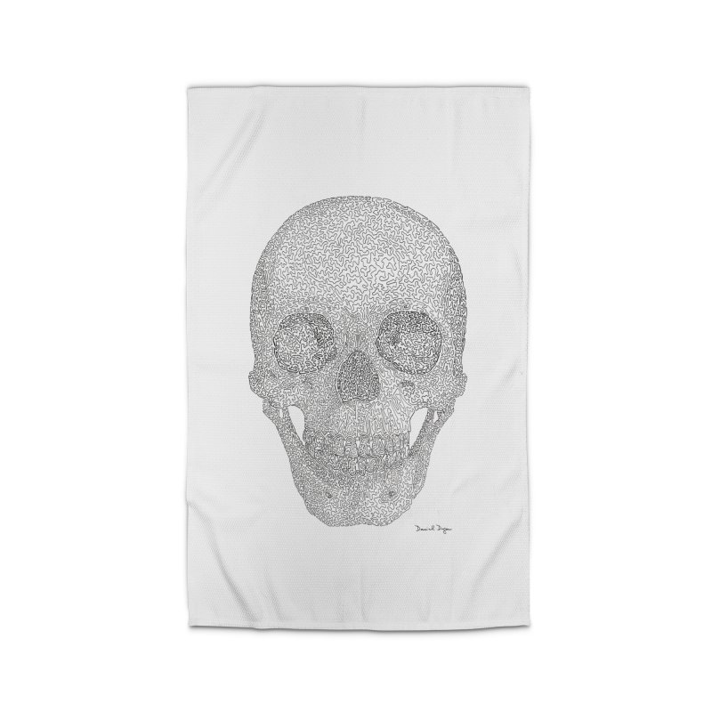 Skull (Black) Home Rug by Daniel Dugan's Artist Shop