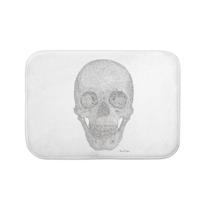 Skull (Black) Home Bath Mat by Daniel Dugan's Artist Shop