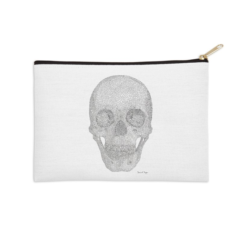 Skull (Black) Accessories Zip Pouch by Daniel Dugan's Artist Shop