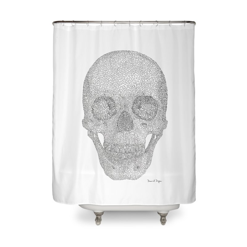 Skull (Black) Home Shower Curtain by Daniel Dugan's Artist Shop
