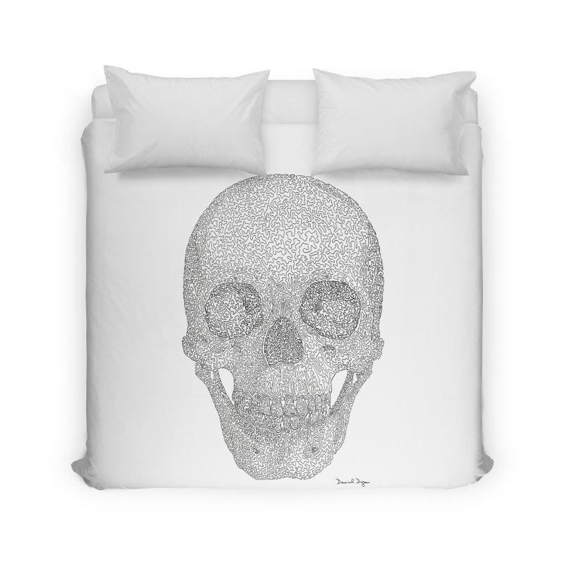 Skull (Black) Home Duvet by Daniel Dugan's Artist Shop