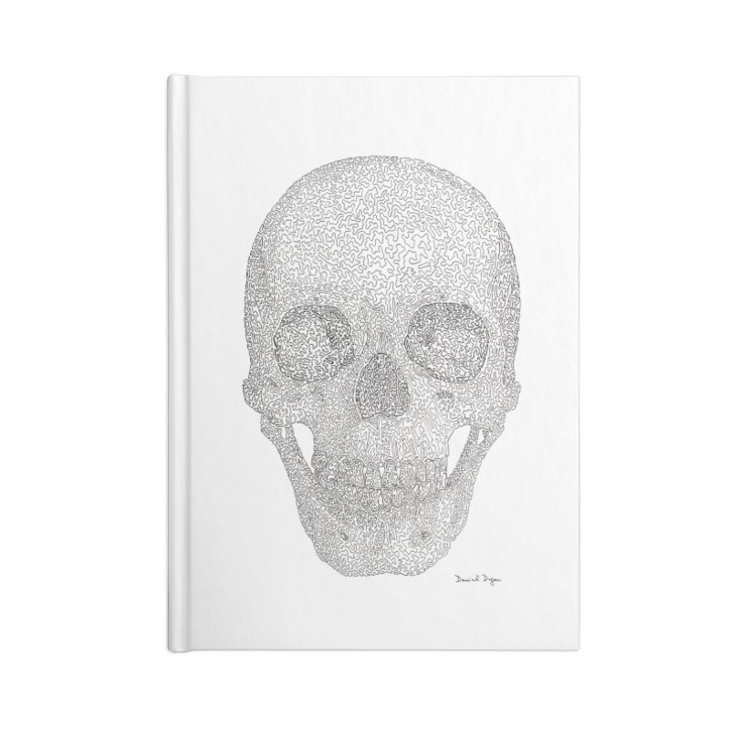 Skull (Black) in Blank Journal Notebook by Daniel Dugan's Artist Shop
