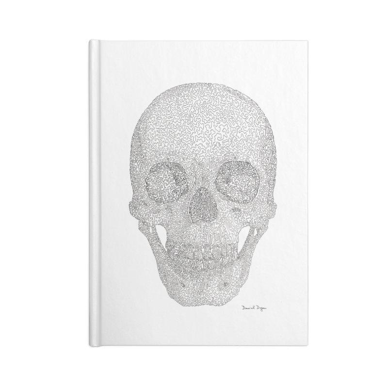 Skull (Black) Accessories Lined Journal Notebook by Daniel Dugan's Artist Shop