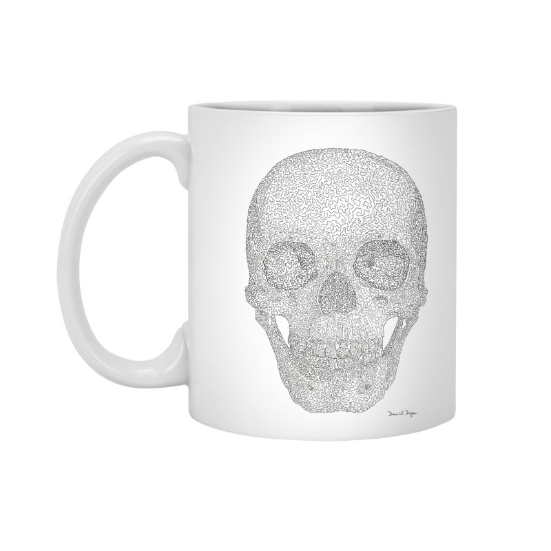Skull (Black) Accessories Mug by Daniel Dugan's Artist Shop