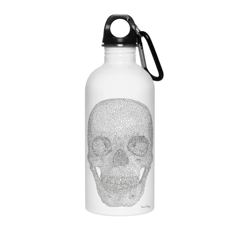 Skull (Black) Accessories Water Bottle by Daniel Dugan's Artist Shop