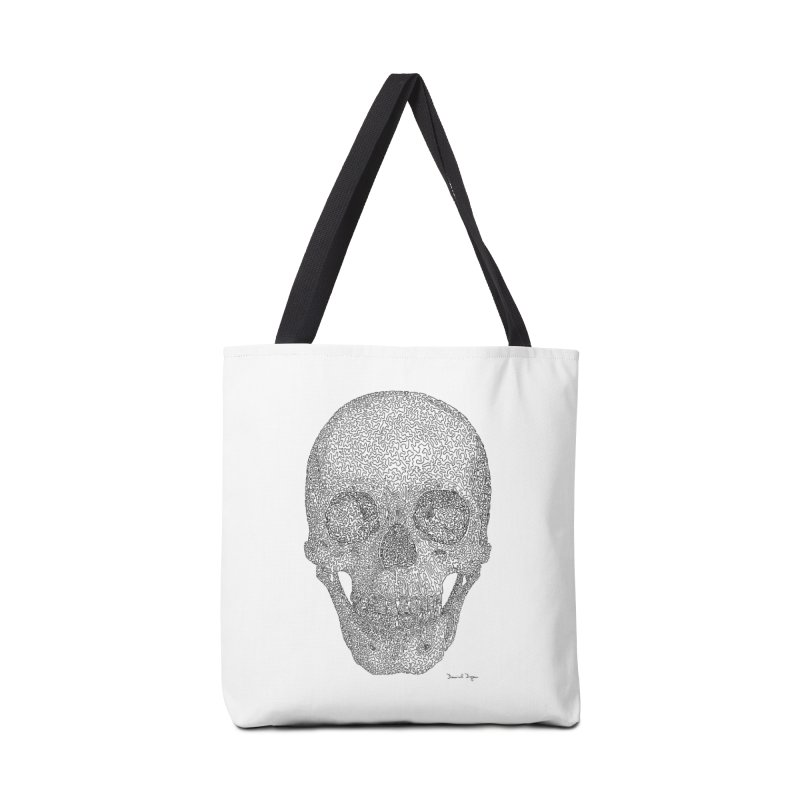 Skull - One Continuous Line Accessories Tote Bag Bag by Daniel Dugan's Artist Shop