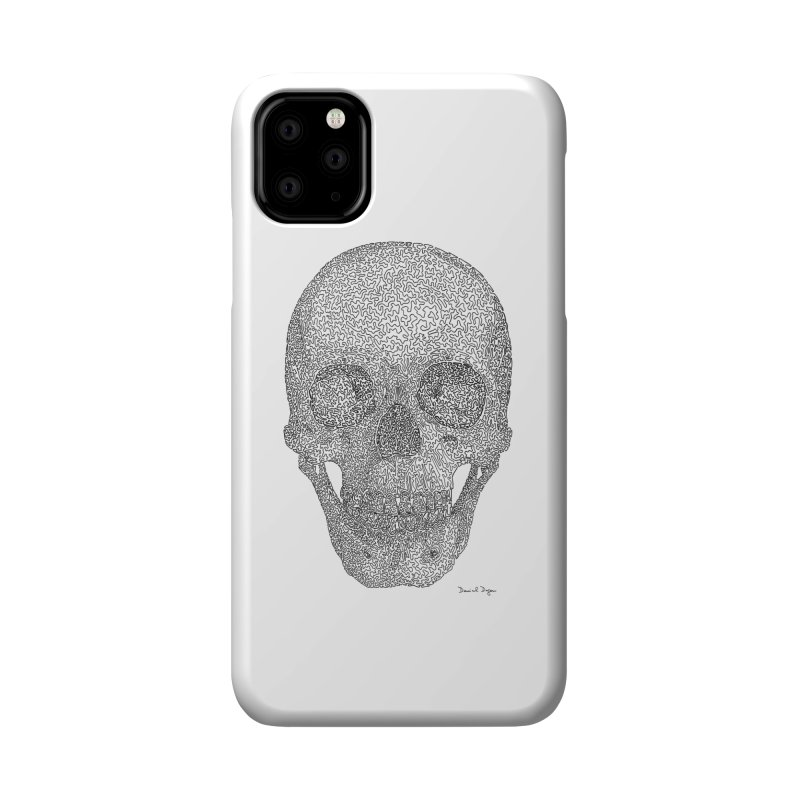 Skull - One Continuous Line Accessories Phone Case by Daniel Dugan's Artist Shop