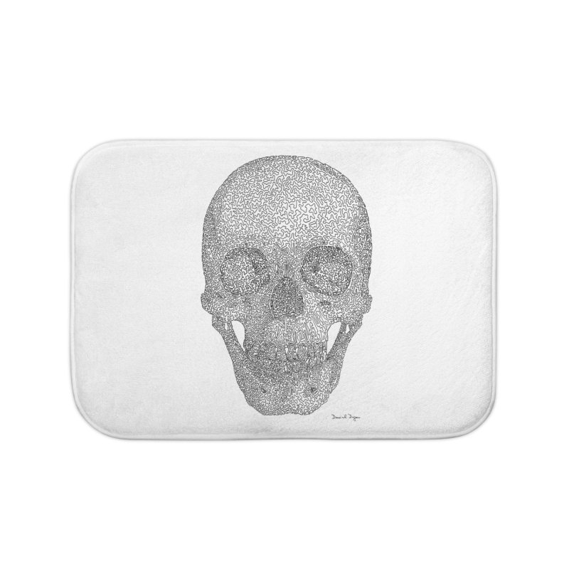 Skull - One Continuous Line Home Bath Mat by Daniel Dugan's Artist Shop