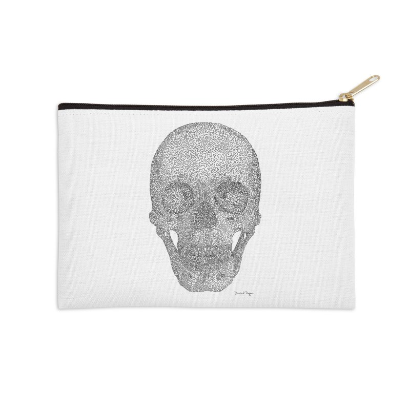 Skull - One Continuous Line Accessories Zip Pouch by Daniel Dugan's Artist Shop