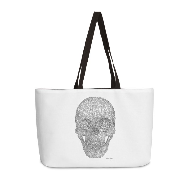 Skull - One Continuous Line Accessories Weekender Bag Bag by Daniel Dugan's Artist Shop