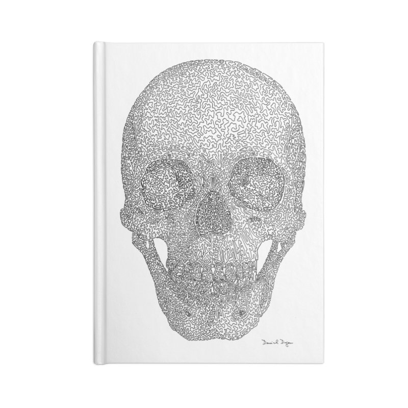 Skull - One Continuous Line Accessories Blank Journal Notebook by Daniel Dugan's Artist Shop