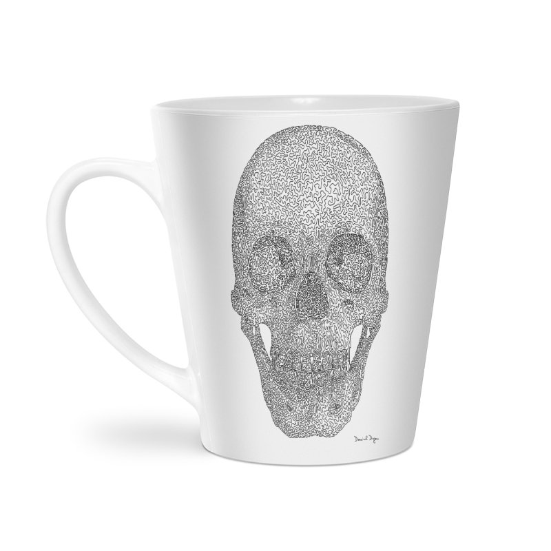 Skull - One Continuous Line Accessories Latte Mug by Daniel Dugan's Artist Shop