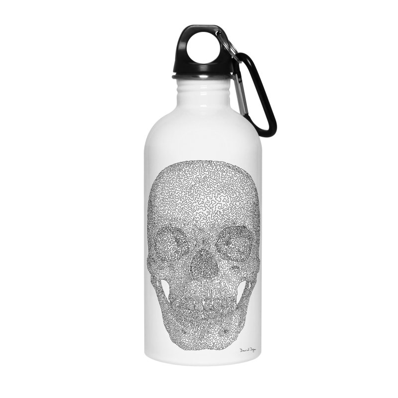 Skull - One Continuous Line Accessories Water Bottle by Daniel Dugan's Artist Shop