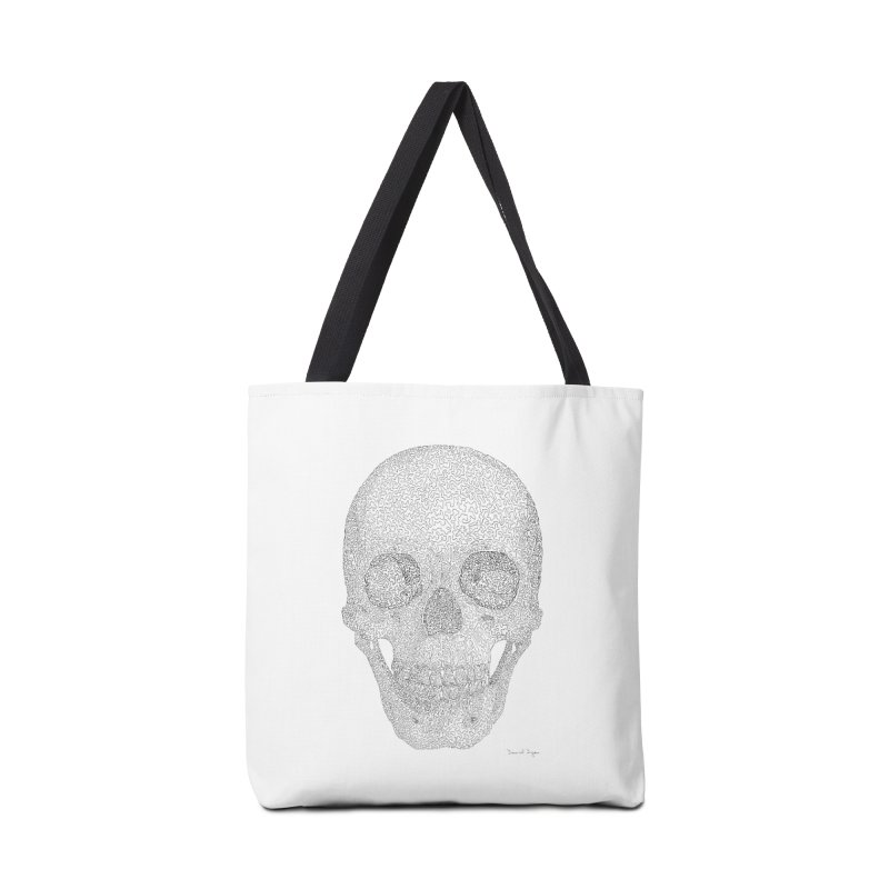Skull (Black) - One Continuous Line Accessories Bag by Daniel Dugan's Artist Shop