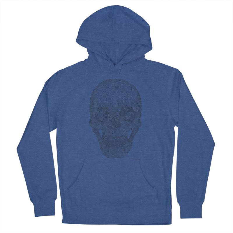 Skull (Black) - One Continuous Line Men's Pullover Hoody by Daniel Dugan's Artist Shop
