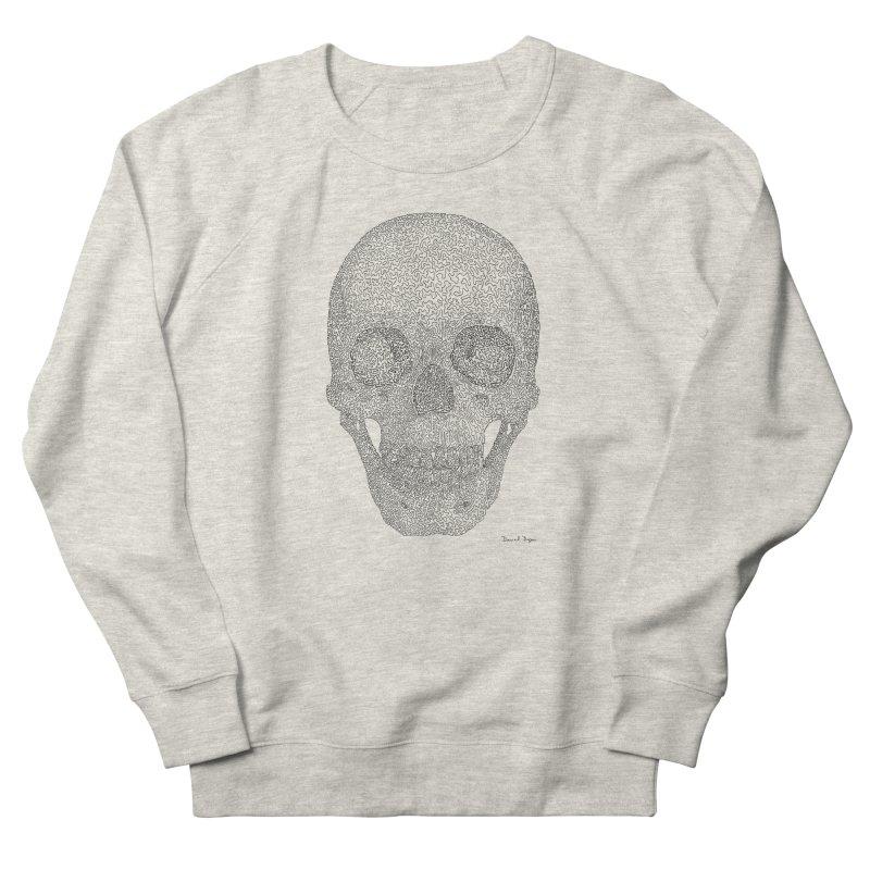 Skull (Black) - One Continuous Line Women's Sweatshirt by Daniel Dugan's Artist Shop