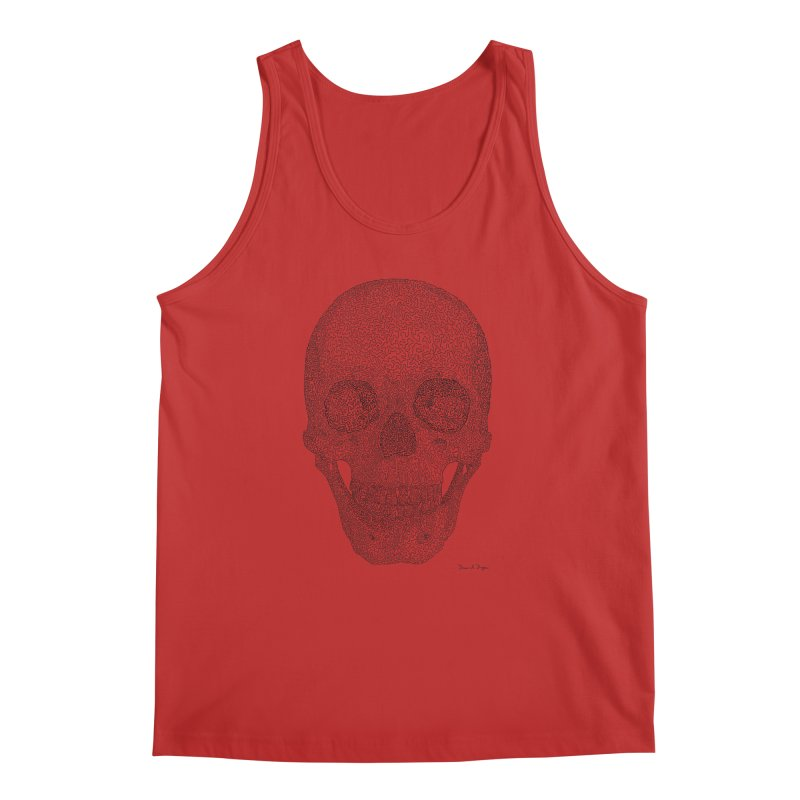 Skull (Black) - One Continuous Line Men's Tank by Daniel Dugan's Artist Shop