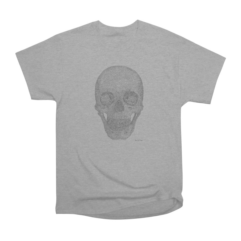 Skull (Black) - One Continuous Line Men's Classic T-Shirt by Daniel Dugan's Artist Shop