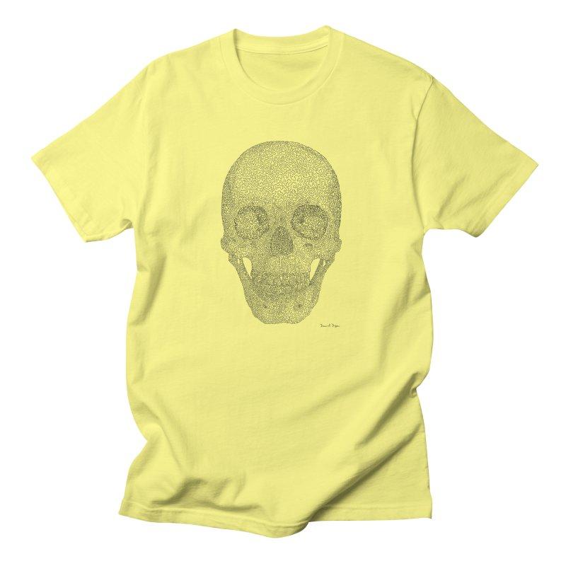 Skull (Black) - One Continuous Line Women's Unisex T-Shirt by Daniel Dugan's Artist Shop