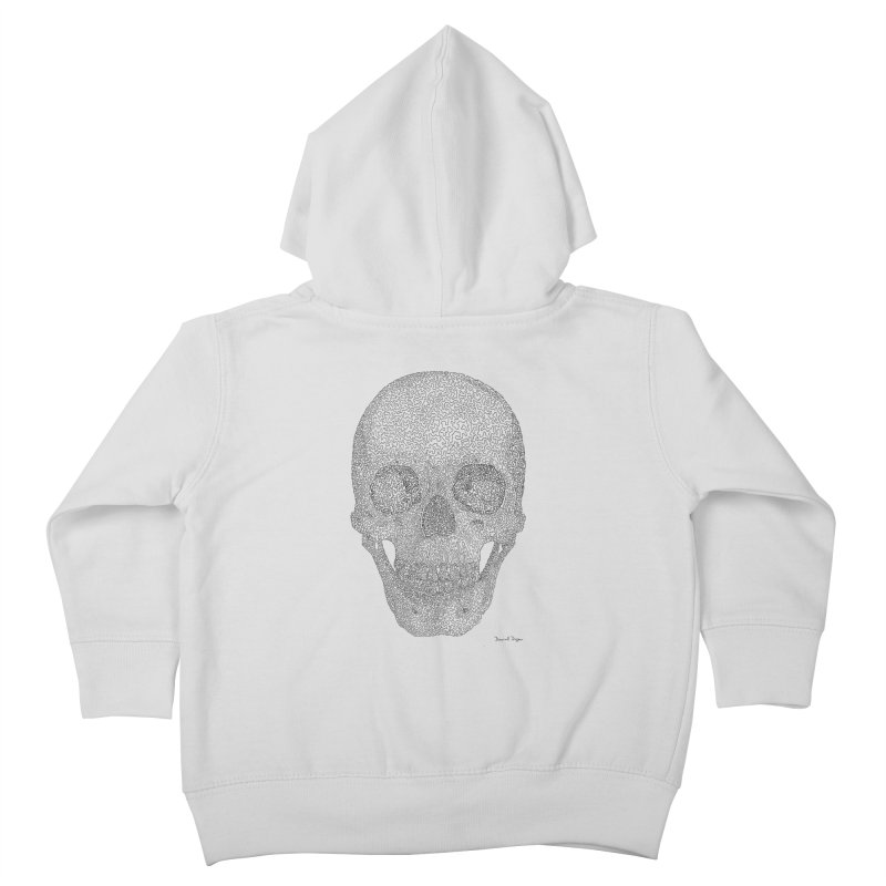Skull (Black) - One Continuous Line Kids Toddler Zip-Up Hoody by Daniel Dugan's Artist Shop
