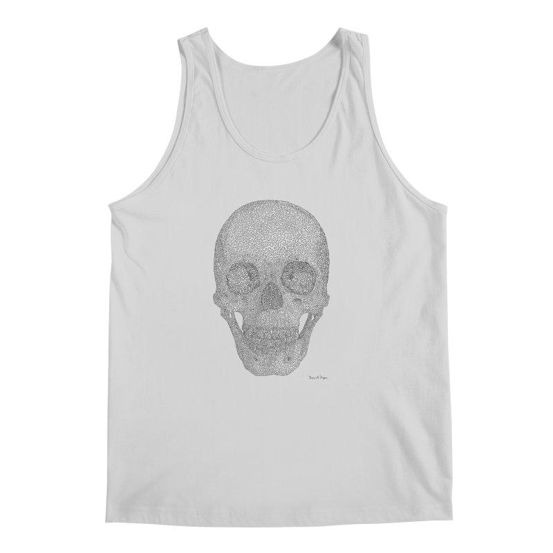 Skull (Black) - One Continuous Line Men's Tank by Daniel Dugan's Artist Shop