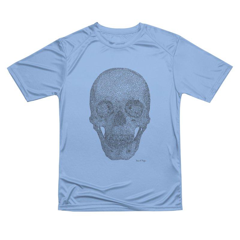 Skull - One Continuous Line Men's Performance T-Shirt by Daniel Dugan's Artist Shop