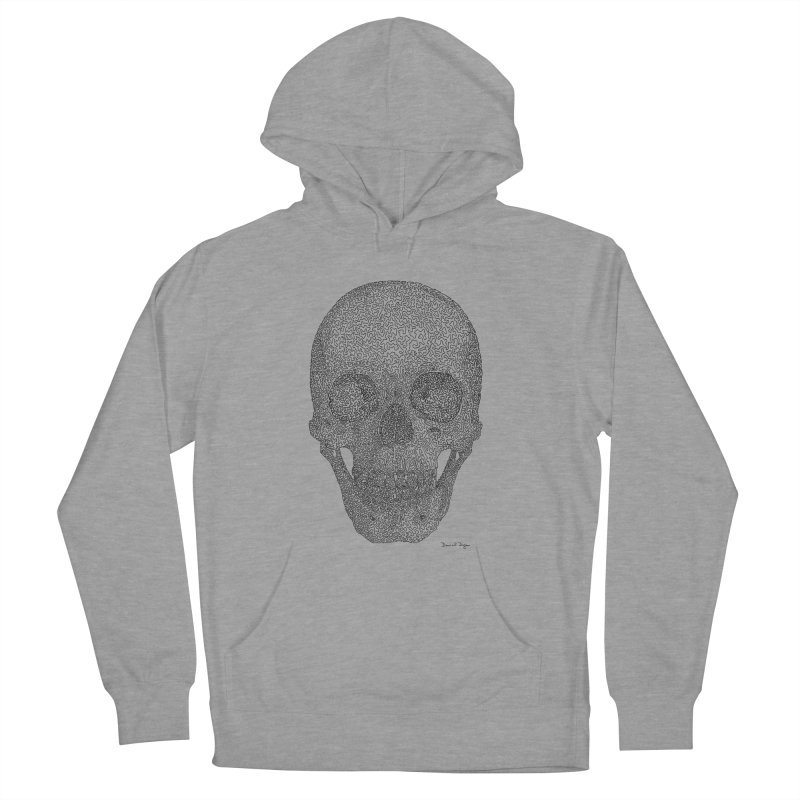 Skull - One Continuous Line Women's French Terry Pullover Hoody by Daniel Dugan's Artist Shop