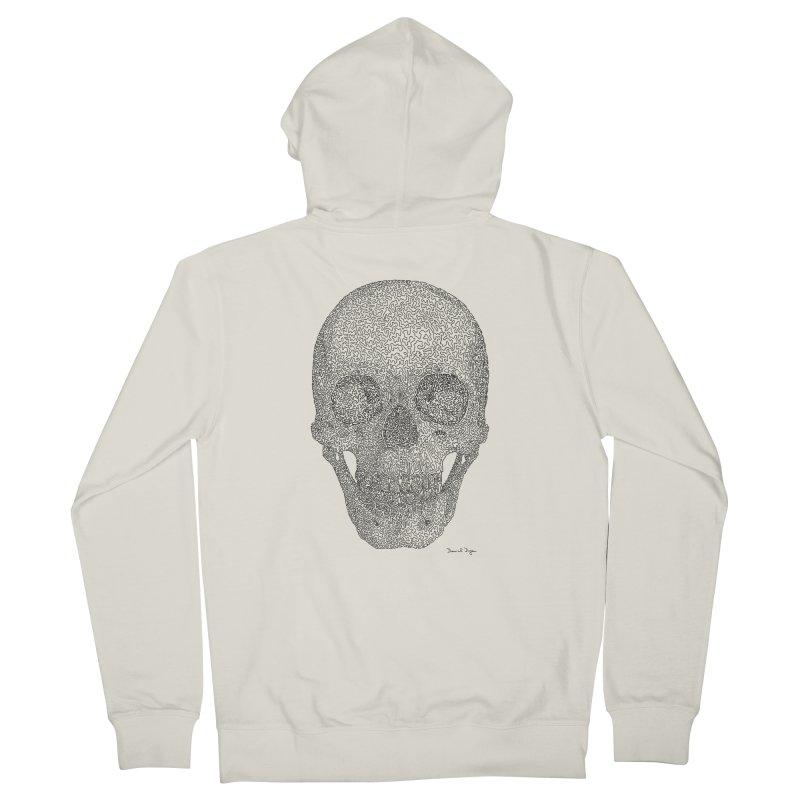 Skull - One Continuous Line Women's Zip-Up Hoody by Daniel Dugan's Artist Shop