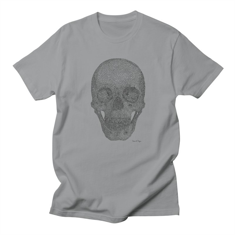 Skull - One Continuous Line Men's T-Shirt by Daniel Dugan's Artist Shop