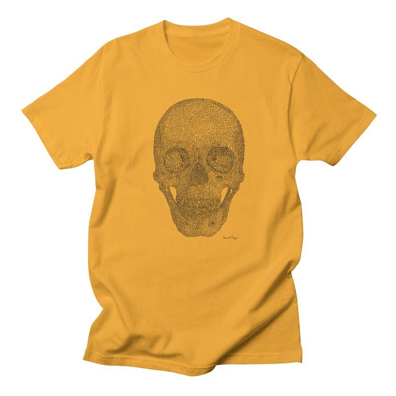 Skull - One Continuous Line Men's Regular T-Shirt by Daniel Dugan's Artist Shop