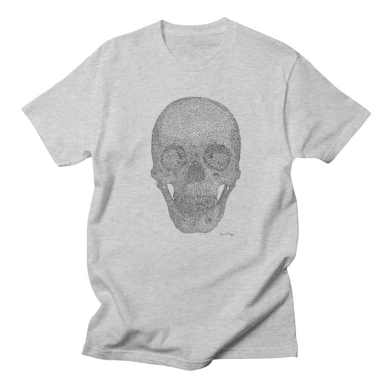 Skull - One Continuous Line Women's Regular Unisex T-Shirt by Daniel Dugan's Artist Shop