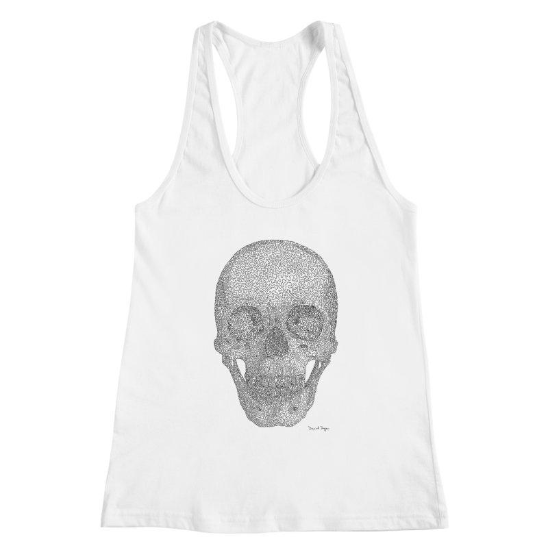 Skull - One Continuous Line Women's Tank by Daniel Dugan's Artist Shop