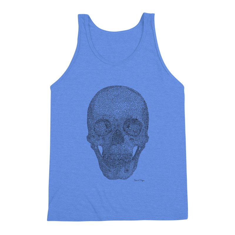 Skull - One Continuous Line Men's Tank by Daniel Dugan's Artist Shop
