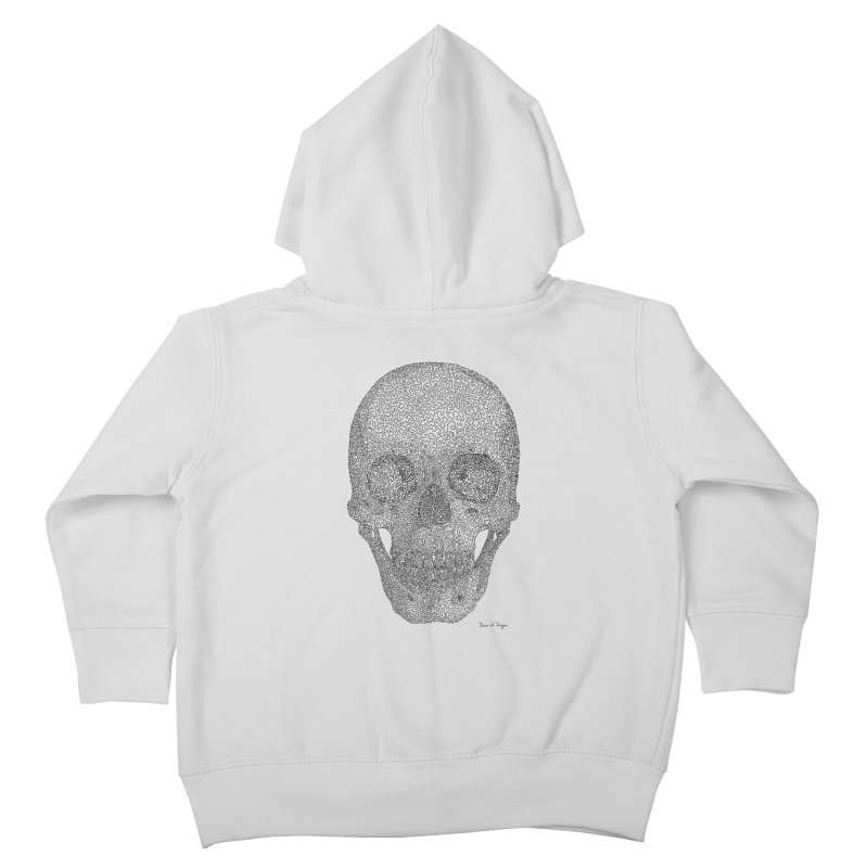 Skull - One Continuous Line Kids Toddler Zip-Up Hoody by Daniel Dugan's Artist Shop