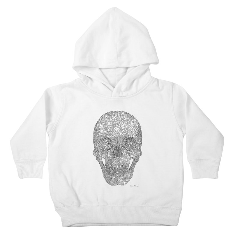 Skull - One Continuous Line Kids Toddler Pullover Hoody by Daniel Dugan's Artist Shop