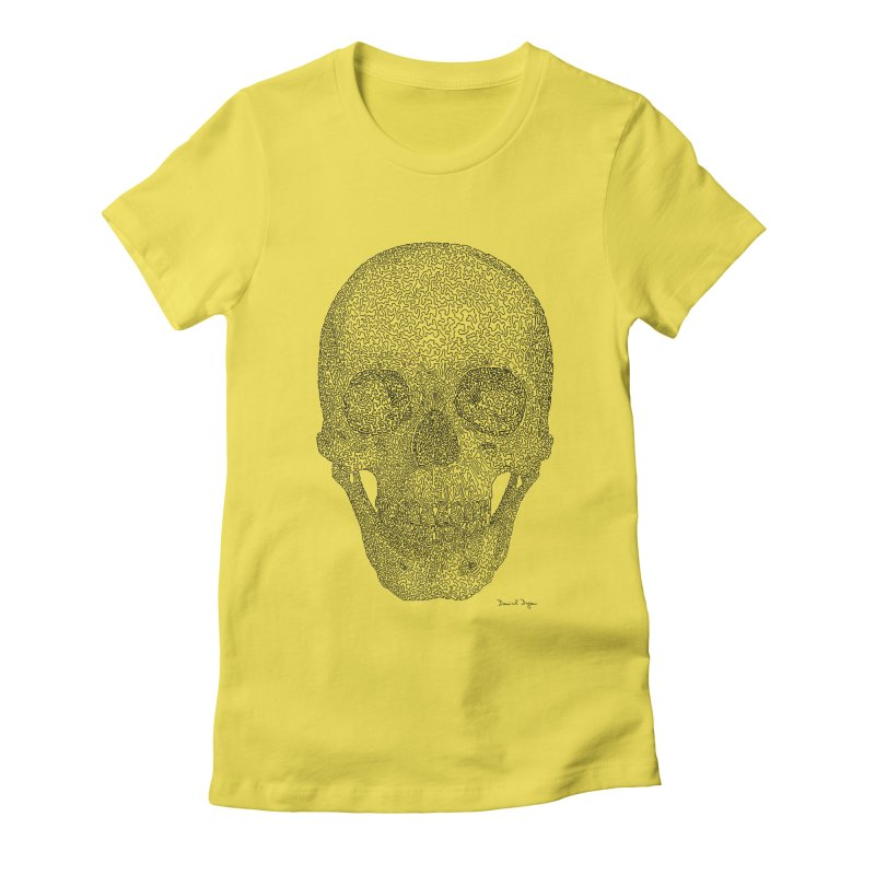 Skull - One Continuous Line Women's T-Shirt by Daniel Dugan's Artist Shop