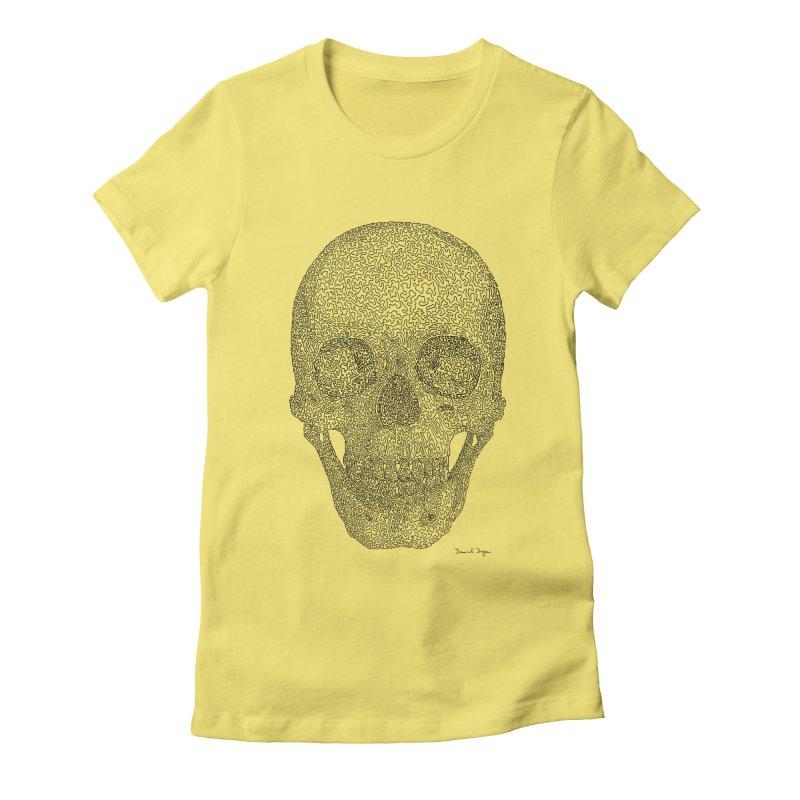 Skull - One Continuous Line Women's T-Shirt by Daniel Dugan's Artist Shop