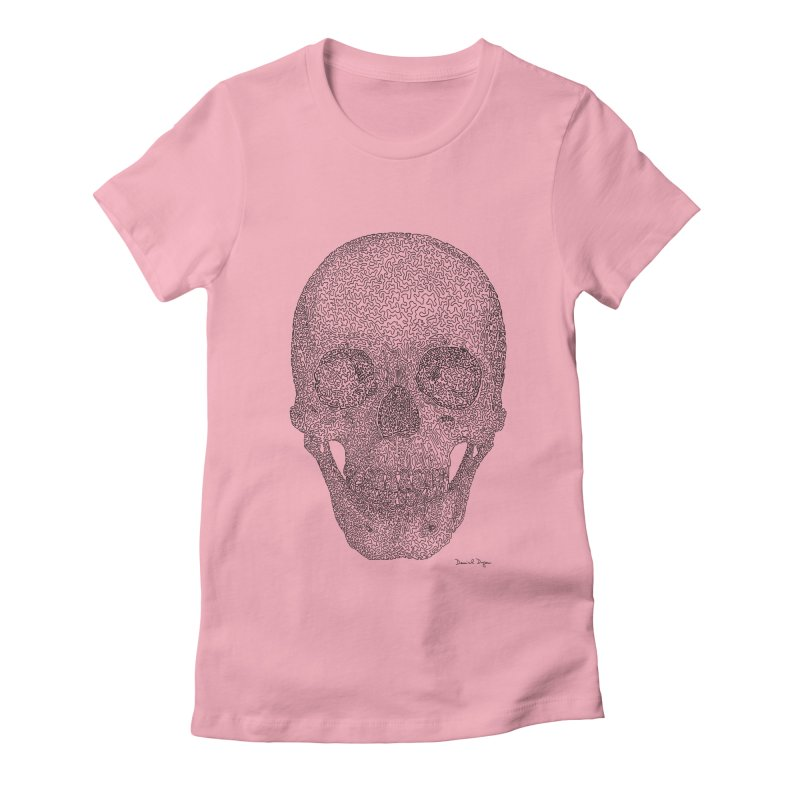 Skull Women's T-Shirt by Daniel Dugan's Artist Shop