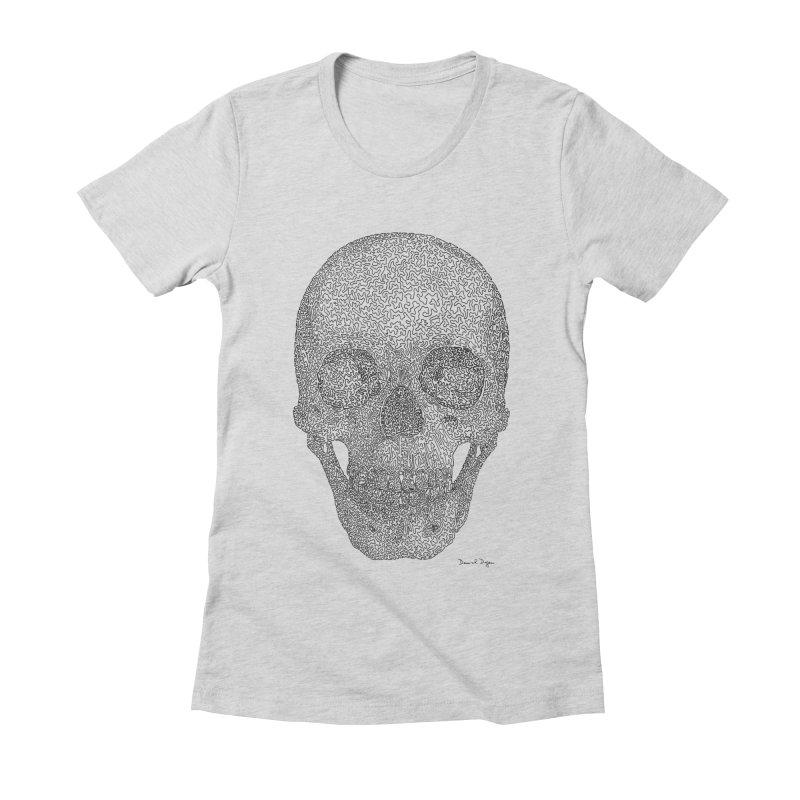 Skull Women's T-Shirt by Daniel Dugan's Artist Shop