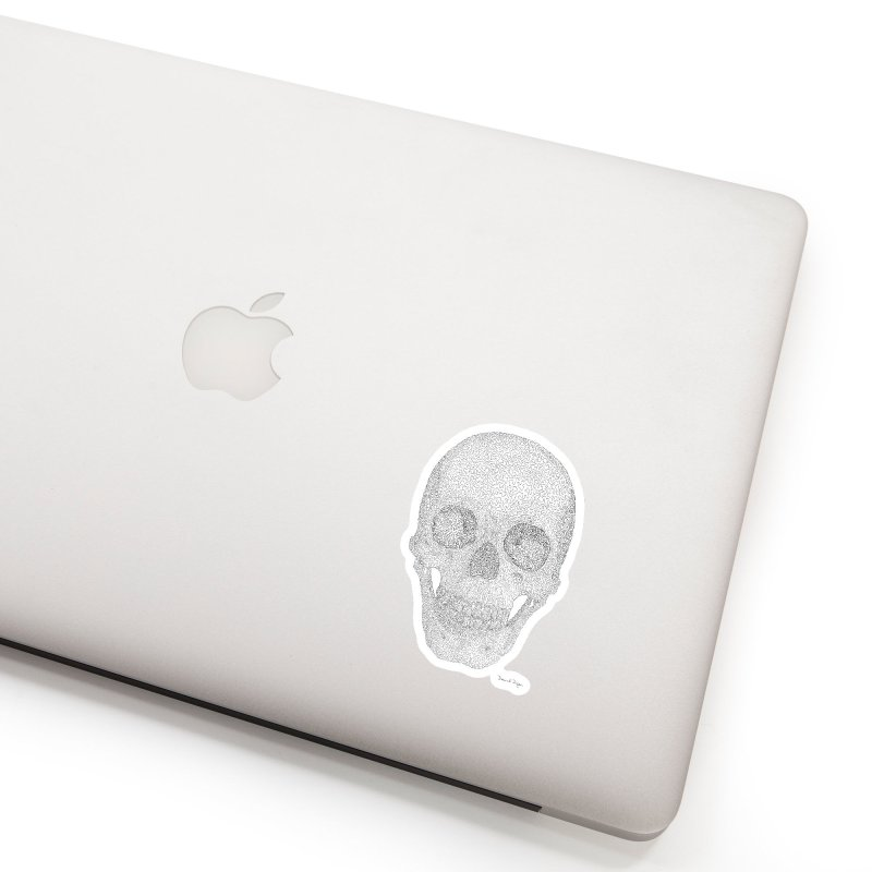Skull (Black) Accessories Sticker by Daniel Dugan's Artist Shop